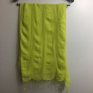 Lime green blanket scarf/Wrap